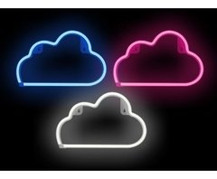 NEON NUBE CARTEL LUMINOSO