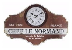 RELOJ DE PARED CHEF LE NORMAND