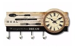 RELOJ PERCHERO DE PARED