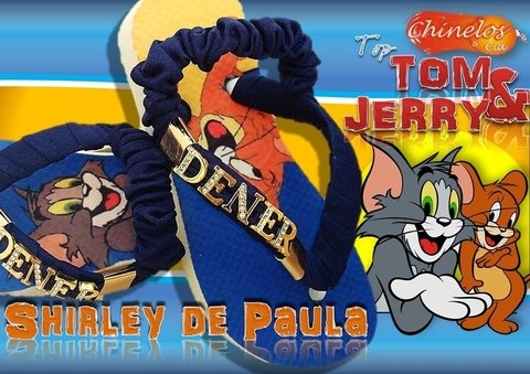 Havaianas customizadas tom &jerry