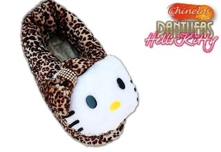 Pantufas fechadas Hello Kitty na internet