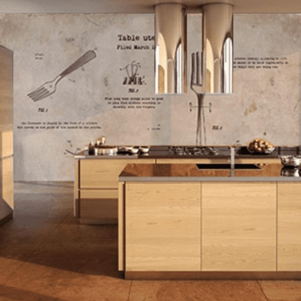 18 Bonito Mural Cocina Im Genes Murales De Ceramica Para  # Muebles De Cocina Kiwi
