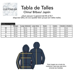 Campera China Negra Niño - Customs BA