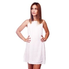 Vestido Basic Blanco en internet