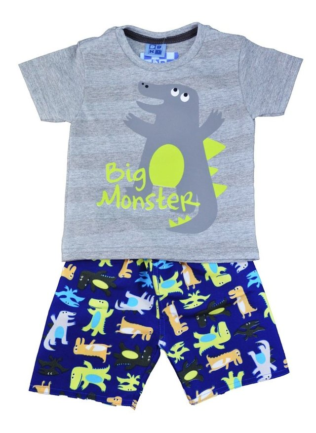 CONJUNTO DUDUKA BIG MONSTER CINZA