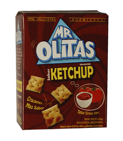 SNACKS MR OLITAS SABOR KETCHUP X 100GRS