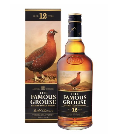 W. THE FAMOUS GROUSE GOLD RESERVE ESTUCHE 750 CC