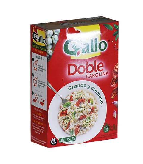 ARROZ GALLO DOBLE CAROLI. X1KG S/ TACC