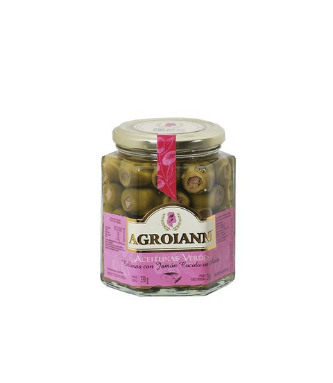 AGROIANNI ACEIT. RELL. C/JAMON COCIDO X 330 GRS