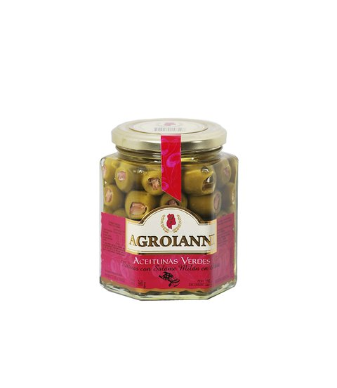 AGROIANNI ACEIT. RELL. C/SALAME MILAN X 360 GRS