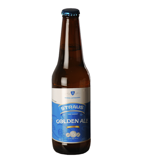 C. STRAUS GOLDEN ALE BOT. X 330 CC S/TACC