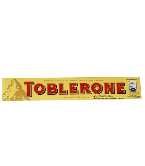 TOBLERONE MILK HONEY Y ALMOND NOUGAT X100GR
