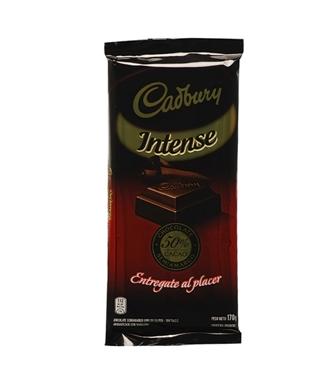 CADBURY TABLETA INTENSE 50 % CACAO X 170 GR