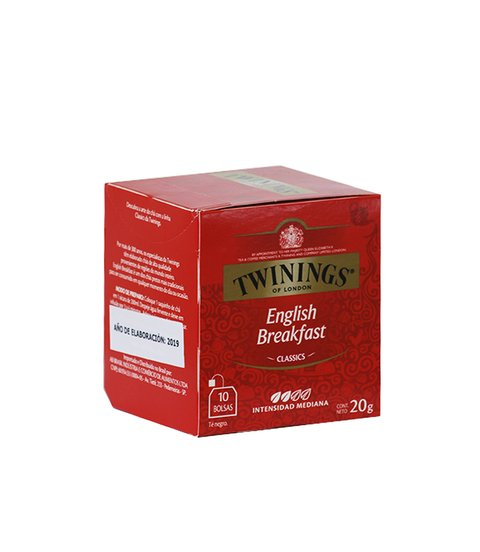 TE TWININGS ENGLISH BREAKFAST CLASSIC X 10 SAQ.