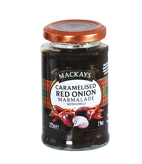 MACKAYS CHUTNEY CARAMELISED RED ONION X 225 G