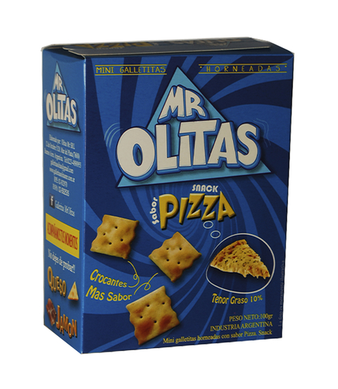 SNACKS MR OLITAS SABOR PIZZA X 100G