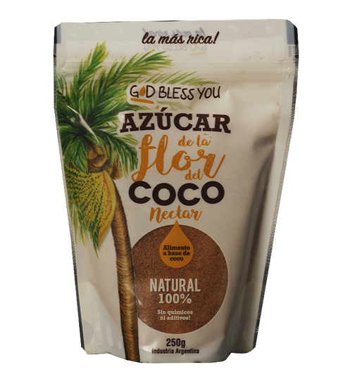AZUCAR DE COCO GOD BLESS YOU DOY PACK X 250GRS