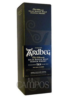 W. ARDBEG SINGLE ISLAY MALT ESTUCHE X 700 ML