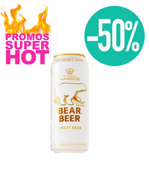 C. BEAR BEER WHEAT 5% LATA X 500 ML