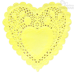 Blondas papel corazon color 10cm - en paq x100 - Papelera Miramar
