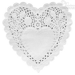 Blondas papel corazon color 10cm - en paq x100 - tienda online