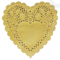 Blondas papel corazon color 10cm - en paq x100 en internet