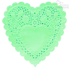 Blondas papel corazon color 10cm - en paq x100 - comprar online