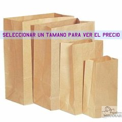 Bolsas sin manijas kraft - ideal delivery