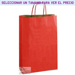 Bolsas kraft color rojo