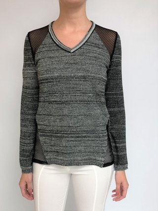 SWEATER CON RECORTE DE RED (22833)