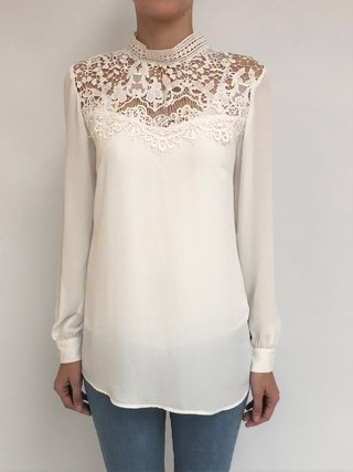 Camisa Blusa con Broderie