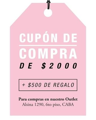 CUPON COMPRA OUTLET
