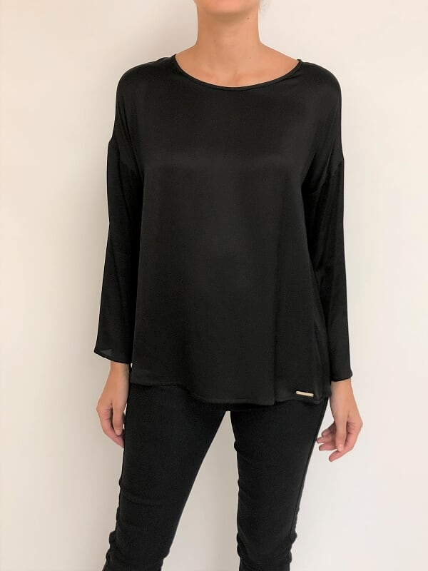Blusa escote base manga oxford (26580)