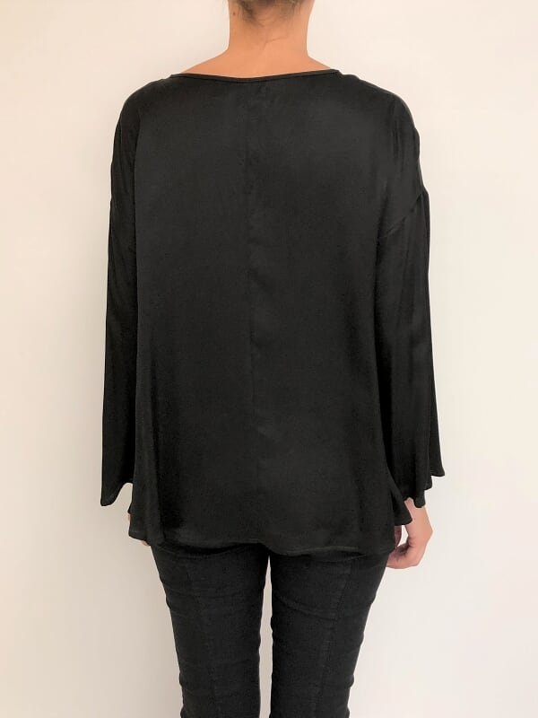Blusa escote base manga oxford (26580) en internet