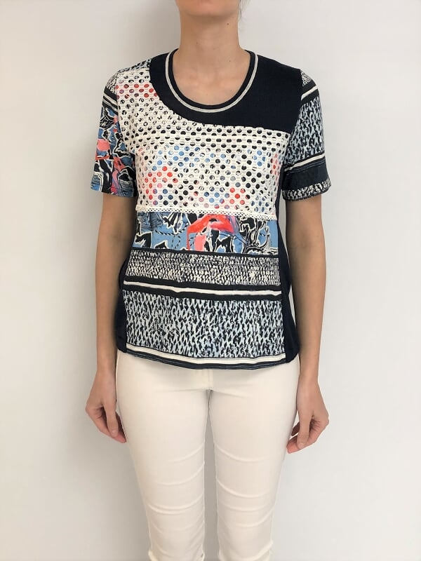 SWEATER RECORTES RED-ESTAMPADO (29803)