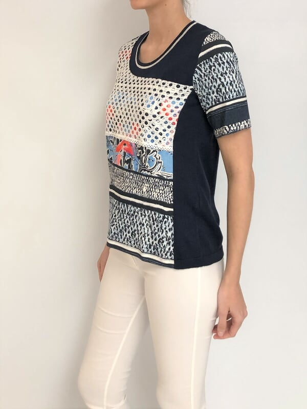 SWEATER RECORTES RED-ESTAMPADO (29803) - comprar online