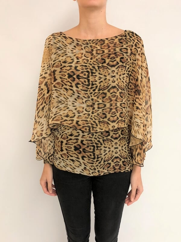 Blusa estampada doble puño (29393)