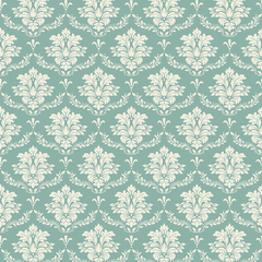 TECIDO TRICOLINE ESTAMPA: DAMASK TIFFANY FB