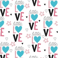 TECIDO TRICOLINE ESTAMPA: LITTLE LOVE FB