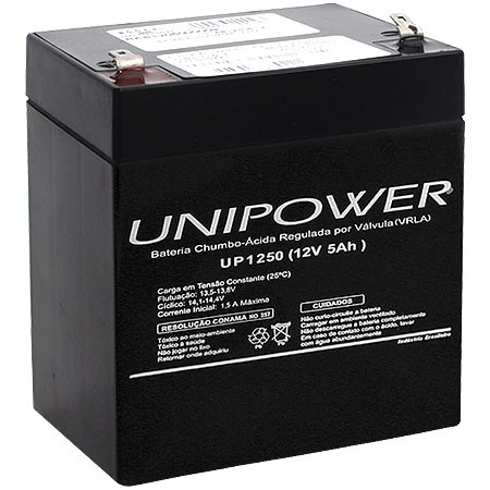 BATERIA 12V 5,0AH (UP1250) - UNIPOWER