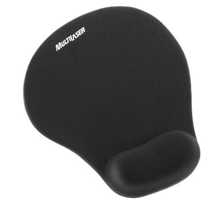 MOUSE PAD GEL PEQUENO PRETO AC021 - MULTILASER