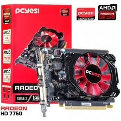 PLACA DE VIDEO AMD RADEON HD 7750 1GB GDDR5 128 BITS - O775PFB15R - PCYES