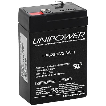 BATERIA 6V 2,8AH (UP628) - UNIPOWER