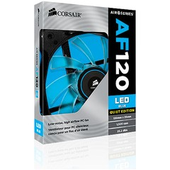FAN PARA GABINETE AIR SERIES AF120 QUIET EDITION COM LED AZUL - 120MM X 25MM CO-9050015-BLED - CORSAIR - loja online