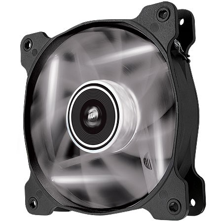 FAN PARA GABINETE AIR SERIES AF120 QUIET EDITION COM LED BRANCO - 120MM X 25MM - CO-9050015-WLED - CORSAIR