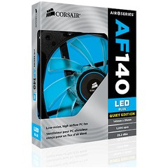 FAN PARA GABINETE AIR SERIES AF140 QUIET EDITION COM LED AZUL - 140MM X 25MM CO-9050017-BLED - CORSAIR - loja online
