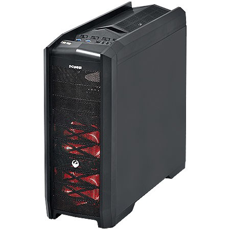 GABINETE FULL-TOWER DRAGON PRETO HOT-SWAP FAN LED VERMELHO/LATERAL EM ACRILICO - DRAGONPTOVM3FCA - PCYES na internet
