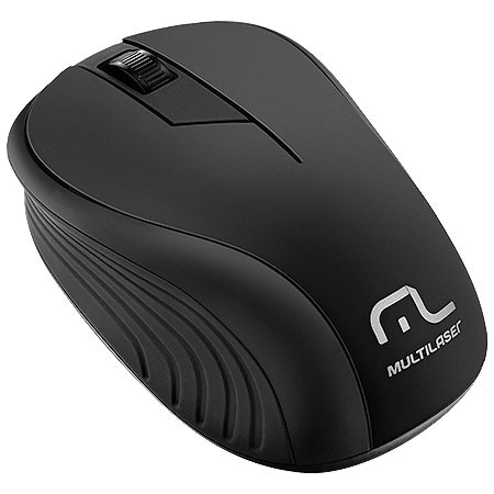 MOUSE SEM FIO 2.4GHZ PRETO USB PLUG AND PLAY 1200DPI MO212 - MULTILASER
