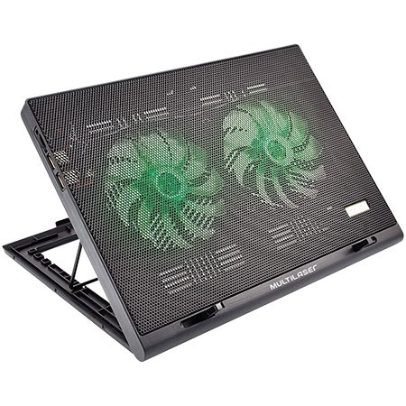 COOLER PARA NOTEBOOK WARRIOR POWER GAMER LED VERDE LUMINOSO - AC267 - MULTILASER