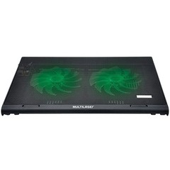 COOLER PARA NOTEBOOK WARRIOR POWER GAMER LED VERDE LUMINOSO - AC267 - MULTILASER - comprar online